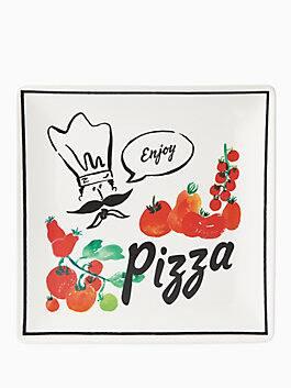 any way you slice it pizza square tray, black, medium