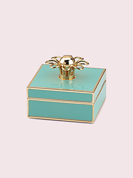 keaton jewelry box, turquoise, medium