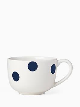 Deco Dot Cobalt Latte Mug, colbalt, medium