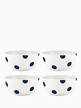 Deco Dot Cobalt  All Purpose Bowls, Set of 4, colbalt, medium
