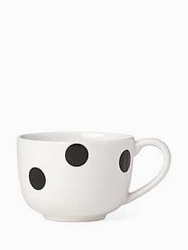 Deco Dot Latte Mug, white, medium