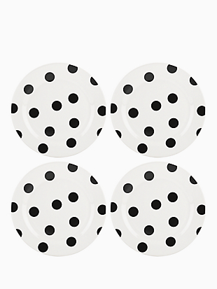 Kate spade Deco Dot Accent Plates, Set of 4
