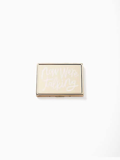 all that glistens now we're talking id holder by kate spade new york
