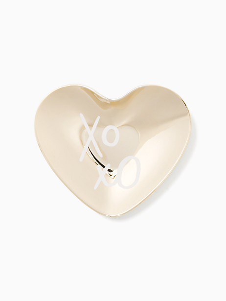 all that glistens xoxo heart dish by kate spade new york