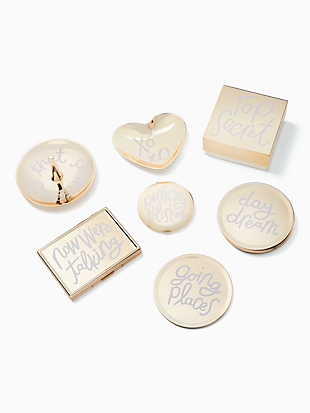 all that glistens xoxo heart dish by kate spade new york hover view