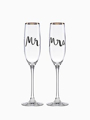 Bridal Party Flute Pair by kate spade new york non-hover view