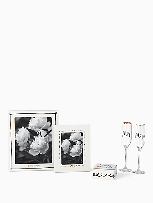 Bridal Party Flute Pair by kate spade new york hover view