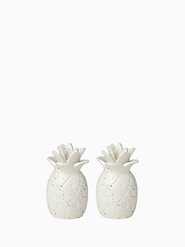 Cannon Street Pineapples Salt and Pepper Set, white, medium