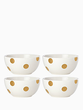 gold bowl set, gold, medium