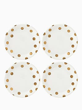 gold dinner plate set, gold, medium
