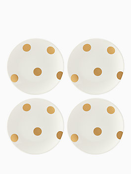 gold tidbits plate set, gold, medium