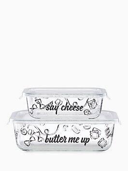 pasta rectangular food storage container, multi, medium