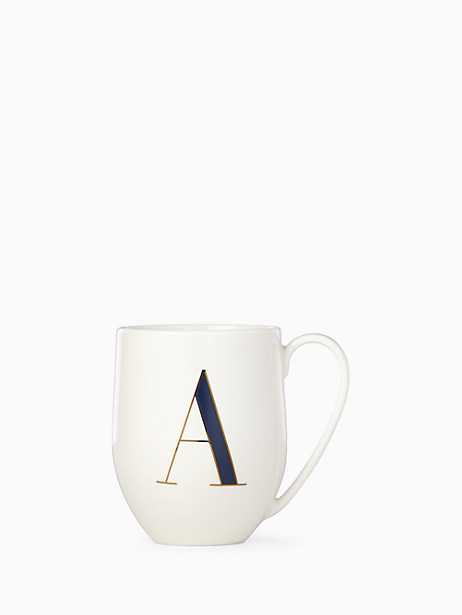 initial mug, A, large by kate spade new york
