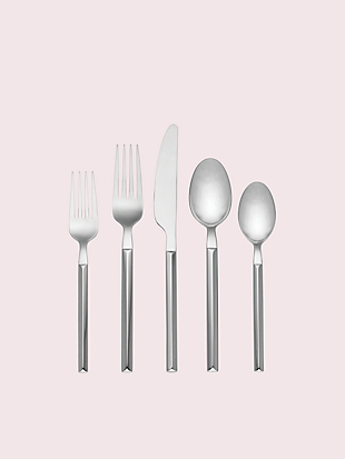 mott street 5-piece flatware set by kate spade new york non-hover view