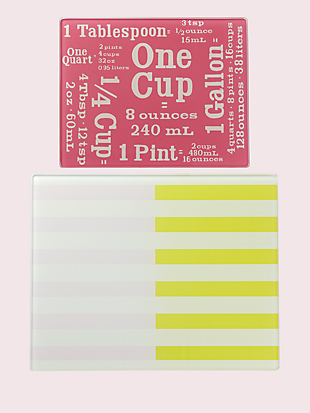 nolita glass prep board set by kate spade new york hover view