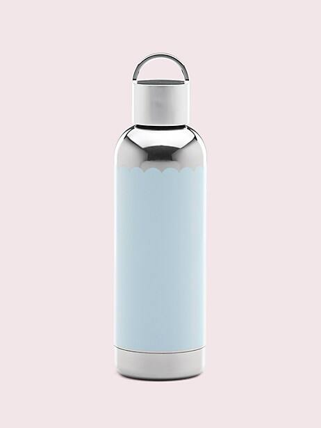 hydration blue scallop water bottle by kate spade new york