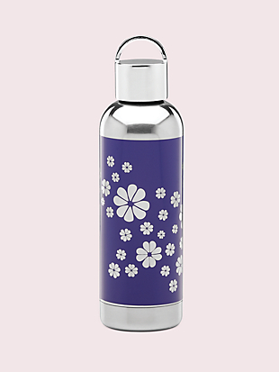 hydration navy spade flower water bottle by kate spade new york non-hover view
