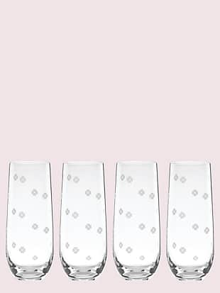 spade clover stemless flute set by kate spade new york non-hover view