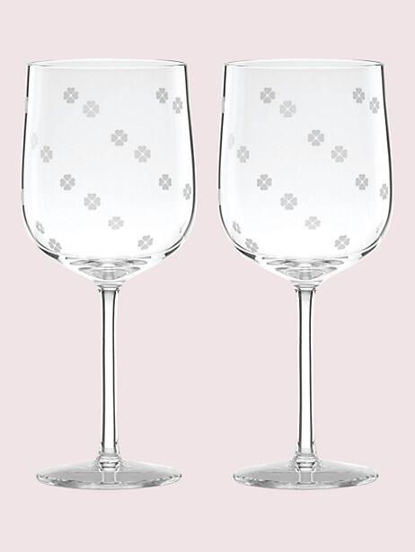 spade clover wine glass set by kate spade new york