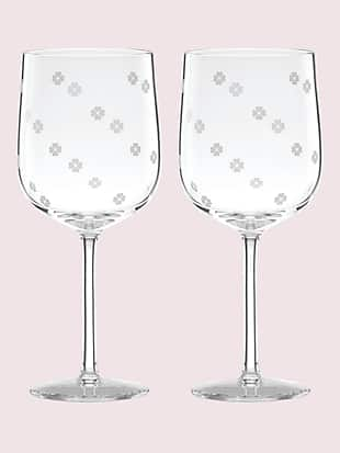 spade clover wine glass set by kate spade new york non-hover view