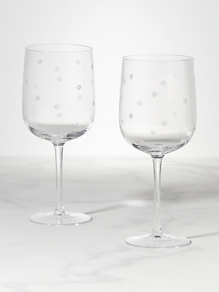 spade clover wine glass set by kate spade new york hover view