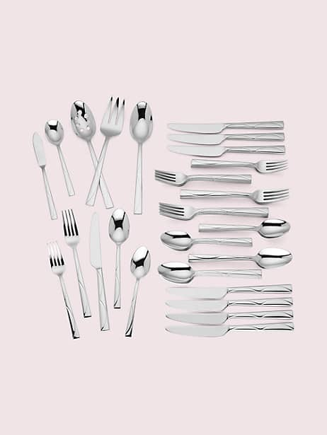 park circle 45-piece flatware set by kate spade new york