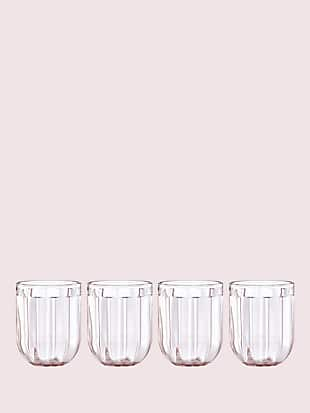park circle set of 4 12 oz glasses by kate spade new york hover view