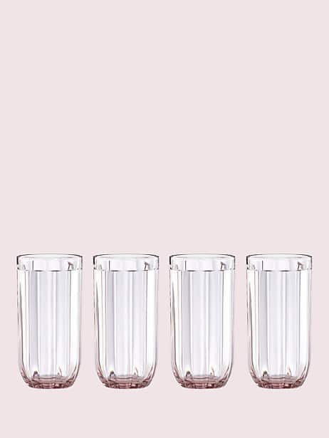 park circle set of 4 16 oz glasses by kate spade new york