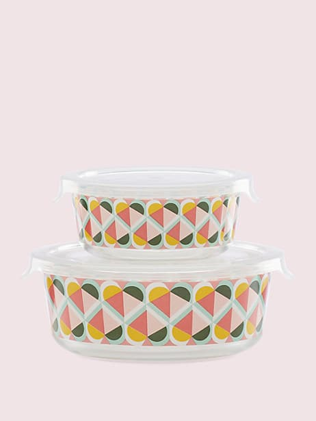 geo spade round food storage set by kate spade new york