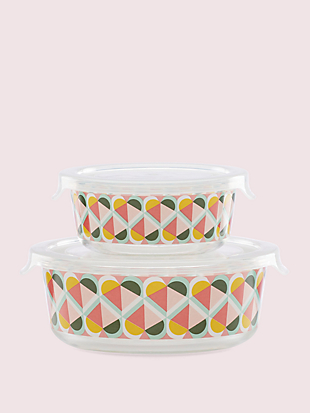 geo spade round food storage set by kate spade new york non-hover view