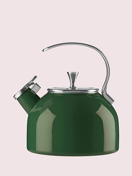 dark green tea kettle by kate spade new york