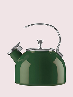 dark green tea kettle by kate spade new york hover view