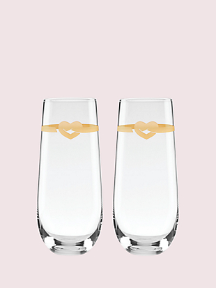 with love stemless toasting flute pair by kate spade new york non-hover view
