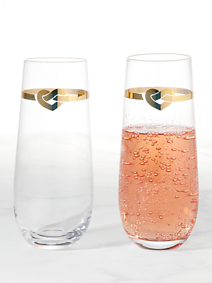 with love stemless toasting flute pair by kate spade new york hover view