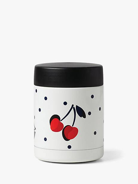 vintage cherry dot insulated food container by kate spade new york