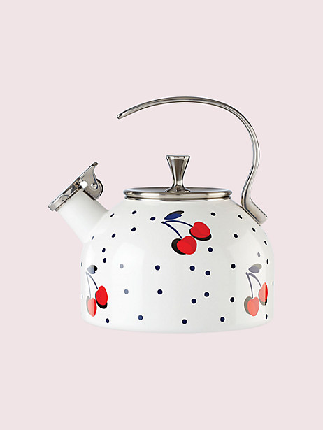 vintage cherry dot tea kettle by kate spade new york