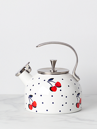 vintage cherry dot tea kettle by kate spade new york hover view
