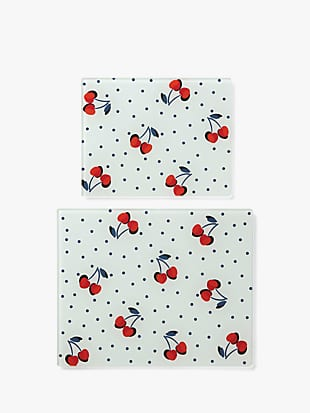 vintage cherry dot prep board set by kate spade new york non-hover view