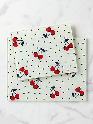vintage cherry dot prep board set by kate spade new york hover view