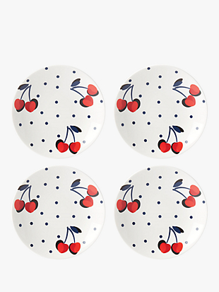 vintage cherry dot tidbits plate set by kate spade new york hover view