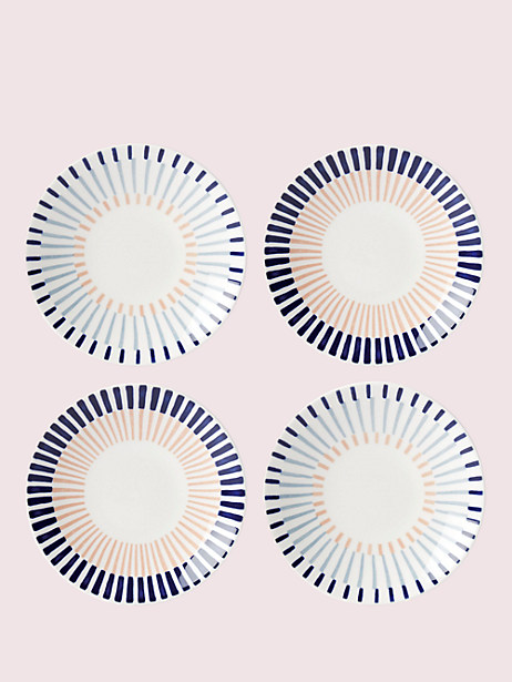 brook lane 4-piece tidbits plate set by kate spade new york
