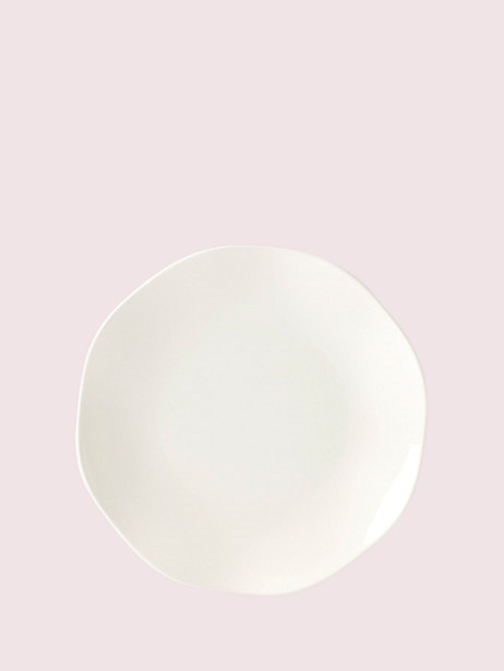 petal lane white accent plate by kate spade new york