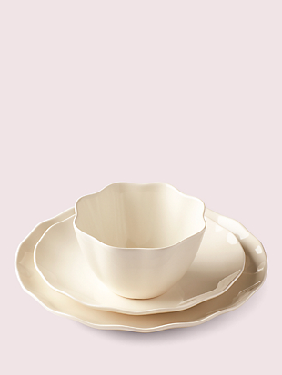 petal lane white dinner plate by kate spade new york hover view