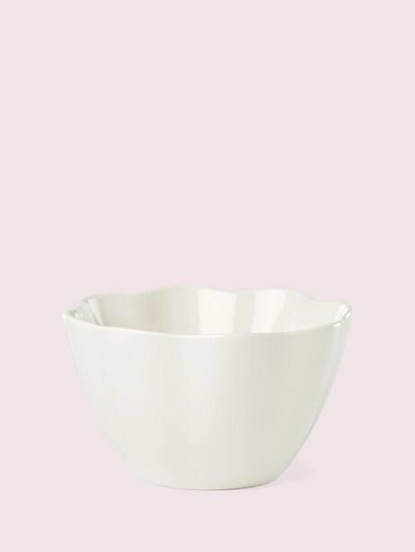 petal lane white soup/cereal bowl by kate spade new york