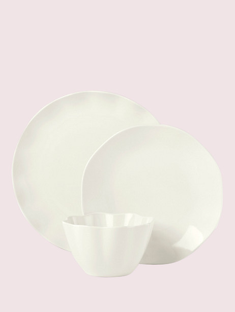 petal lane white 3-piece place setting by kate spade new york