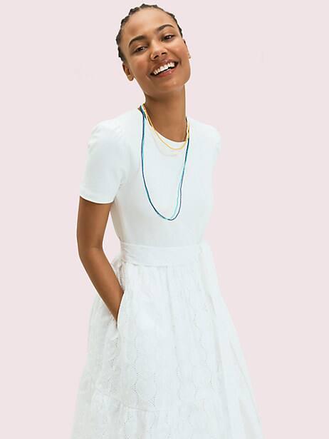 Mixed-media knit dress | Kate Spade New York