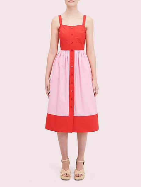 colorblock poplin dress by kate spade new york