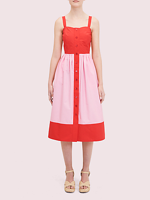 colorblock poplin dress by kate spade new york non-hover view