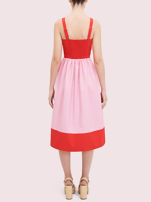 colorblock poplin dress by kate spade new york hover view