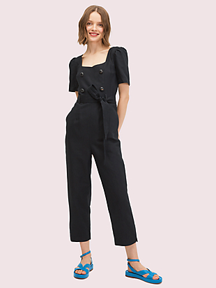 twill jumpsuit by kate spade new york non-hover view